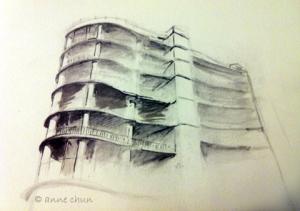 sketch of condo building