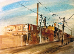 urban sketch of toronto street