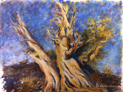 old trees painting