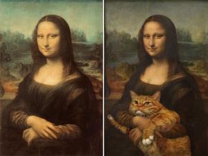 mona lisa and cat