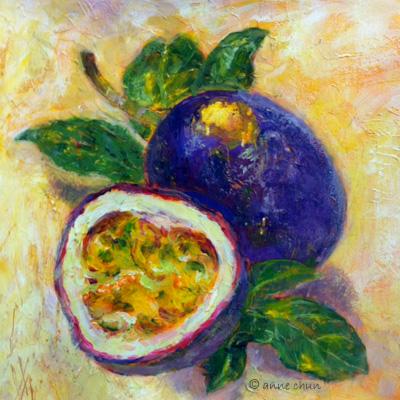 fruit encaustic style