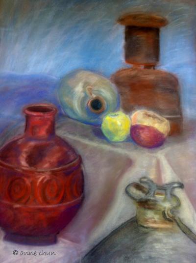 still life with jugs