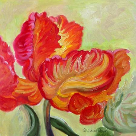 parrot tulip painting