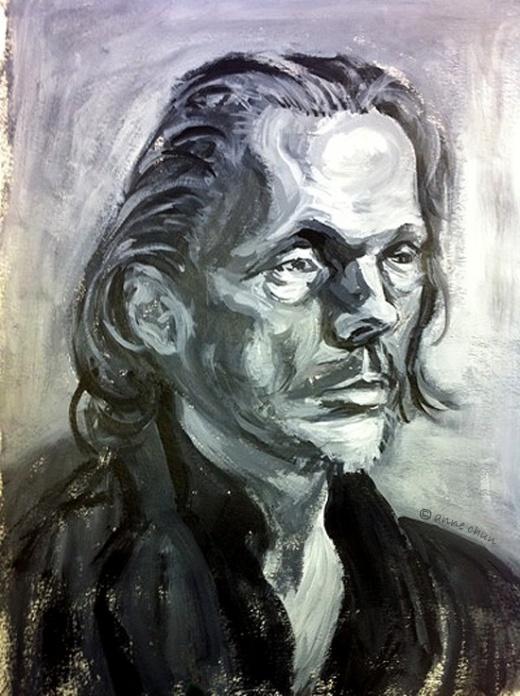portrait-acrylic painting