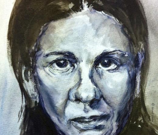 ink portrait of woman