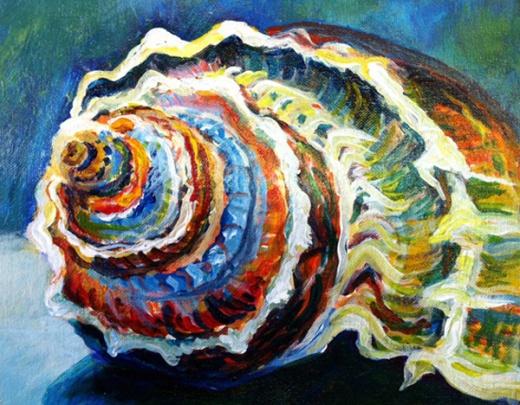 seashell painting 1