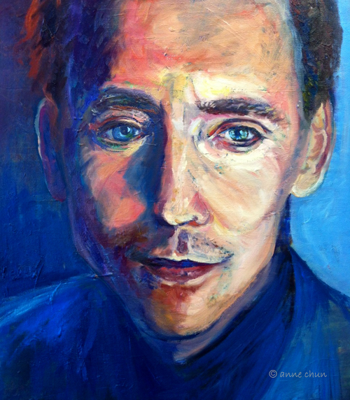 tom hiddleston oil painting