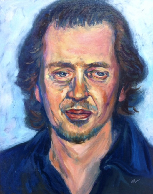 Oil painting of Steve Buscemi